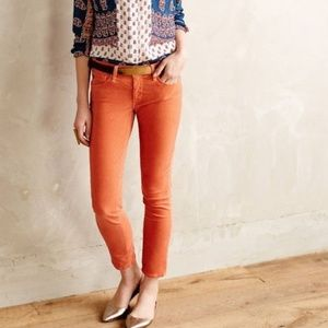 ANTHROPOLOGIE Pilcro Crop Ankle Slit Stet Jeans